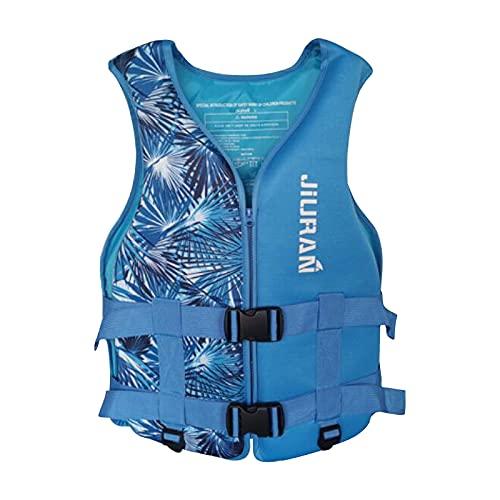 Chaleco salvavidas para adultos y niños, chaleco salvavidas flotante de espuma, chaleco de flotación, ayuda para pesca, surf, buceo, rafting kayak (azul, XL)