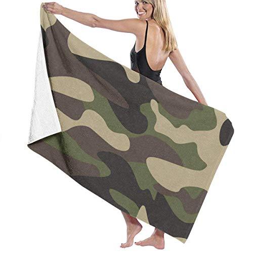 Leo-shop Green Brown Camo Camouflage StrandtuchBad Handtuch HandtuchSunproof BeachQuick Trockentücher Reisetuch