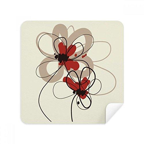 Papaver Bloemen Plant Schilderij Decoratie Bril Reiniging Doek Telefoon Scherm Reiniger Suede Stof 2 stks