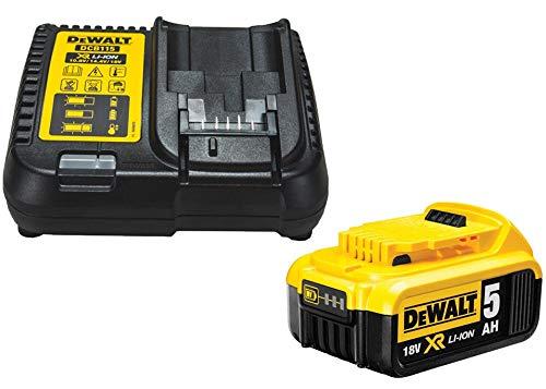 DEWALT DCB184 5.0ah 18v XR batería de Iones de Litio + Cargador DCB115, Amarillo