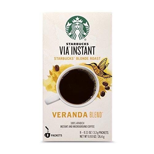 Starbucks VIA Instant Coffee Blonde Roast Packets — Veranda Blend — 1 box (8 packets)