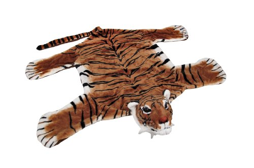 Decorative Safari Plush Tiger Decorative Rug