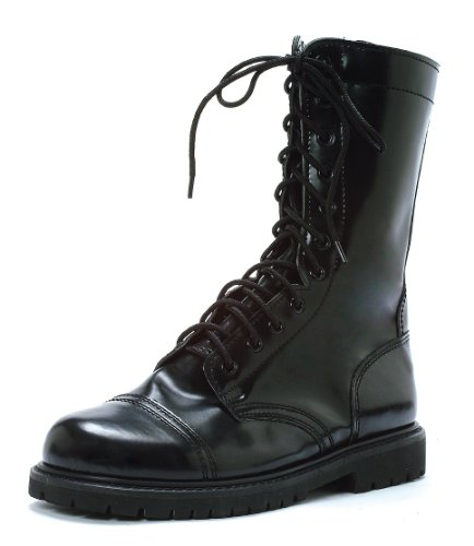 """Ellie Shoes Men's 1"""" Combat Boots. Mens. S BLK"""