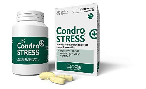 Innovet Condrostress (+), Supporto del metabolismo in caso di osteoartrite per cani - Confezione da 90 compresse