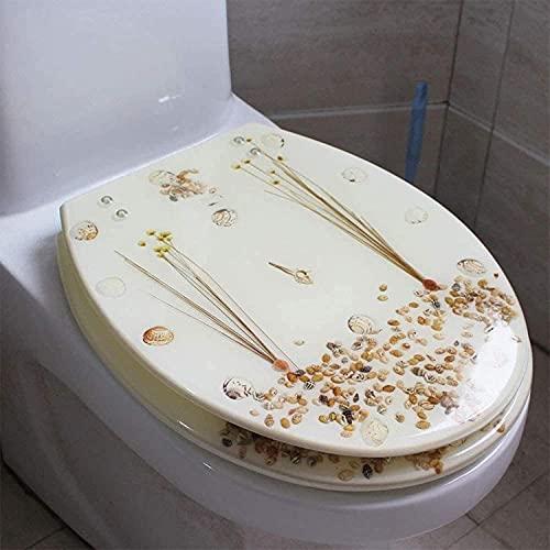 NFRMJMR Toiletzitting Hars Universele Toilethoes Toiletafdekking Afdingen U/V/O Toilethoes Verdikking Wasbaar (Kleur: A)
