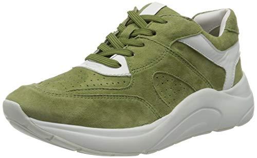 Caprice Damen Kiss Sneaker, Grün (Moss/White), 38 EU