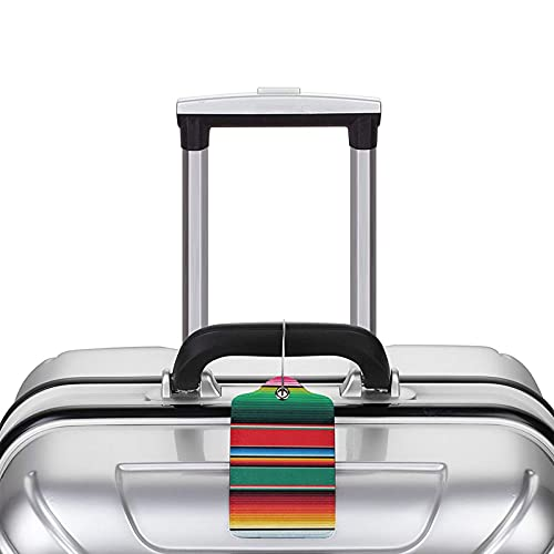 Mexikanischer Teppich Serape Stripes The Arts Reisegepäckanhänger Gepäcketiketten Kofferanhänger Handtaschenanhänger Gepäckanhänger Gepäckanhänger zur Vermeidung von Verlust von Taschen und Koffern
