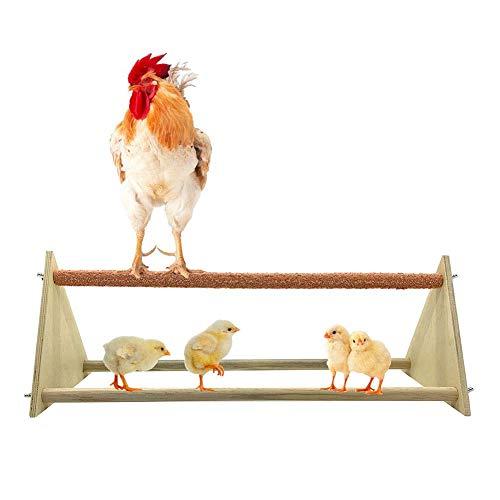 perfecti Sitzstangen Für Vogel, Klettergerüst Aus Holz Für Vogel & Henne, Vogel Spielzeug Für Wellensittich, Nymphensittich, Kanarienvogel, 43x15x15 cm