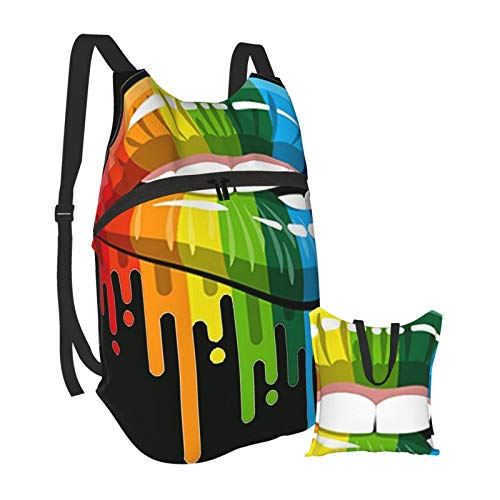 LGBT MOTSS Gay Pride The Gay Team Lightweight Backpack Foldable Hiking Daypack Waterproof Bag For Men Women