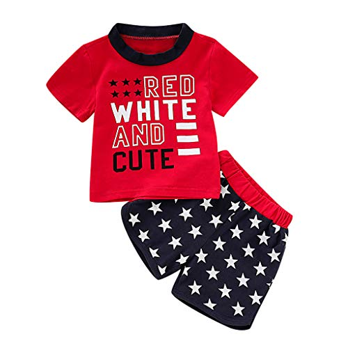 Kehen Little Boy Summer Clothes Cotton Pajamas Train Print Short Sleeve Tee Shorts Soft Home Wear for Kid Toddler