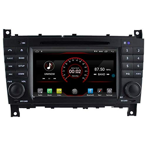 BWHTY Android 10 Car DVD Player GPS Stereo Head Unit Navi Radio Multimedia WiFi para Mercedes W203 W209 W463 200 - -2012 Control del Volante