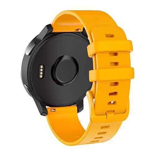 Cinturino Orologio a Sgancio Rapido, Sostituzione Silicone Morbido Larghezza 22mm, Cinturino per Garmin Vivoactive 4/Garmin Active, Orologio Samsung Galaxy 46mm/Samsung Gear S3-Arancia