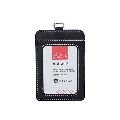 Nuevo estuche transparente para tarjetas de identificación y certificados de calidad de admisión de PVC tarjetero de trabajo ID Cover sin cordón