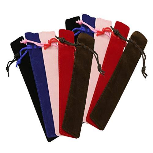 TOYANDONA - Funda para bolígrafo de terciopelo, con cordón y cordón para estudiantes de oficina, multicolor, color Image 1 17,5 * 3,5 cm