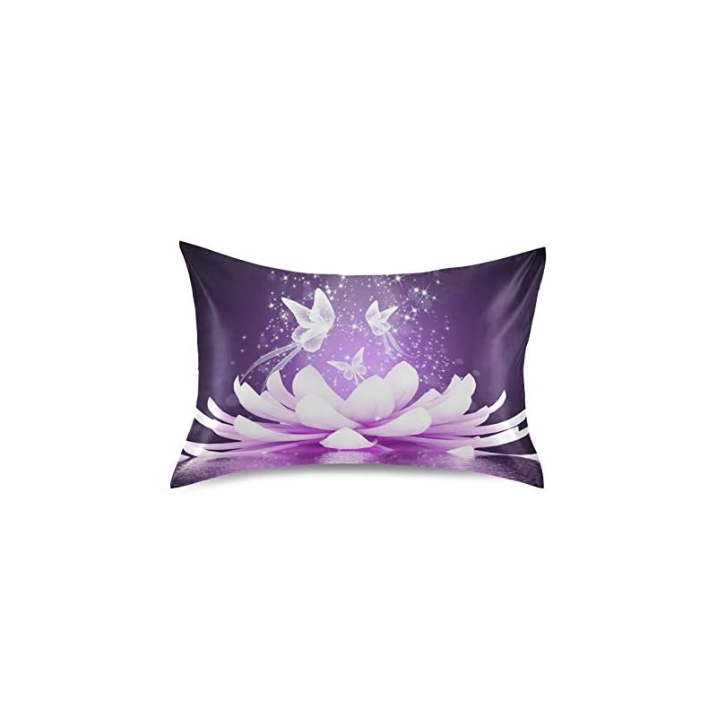 silk flower arrangements keepreal beautiful lotus flower satin pillowcase for hair and skin silk pillowcase - slip cooling satin pillow covers with envelope closure, standard size(20x26 inches)