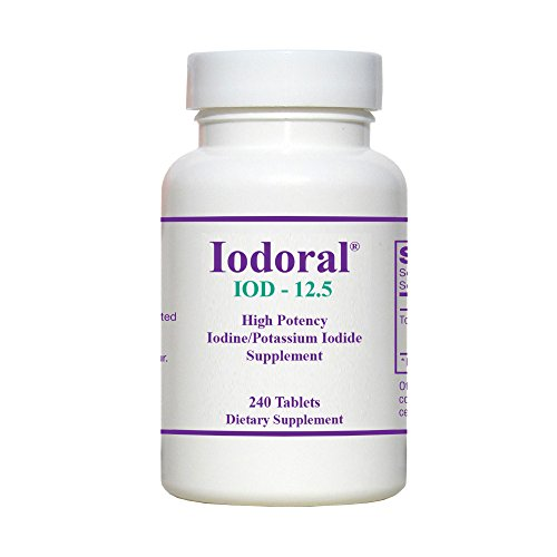 Optimox - Iodoral, High Potency Iodine Potassium Iodide Thyroid Support Supplement, 240 Tablets