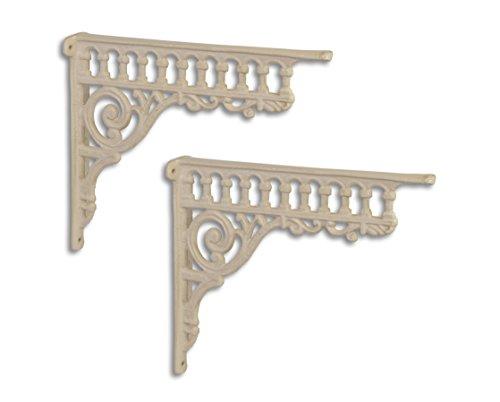 Ángulo de ángulo de pared Soporte de pared estante para estantes Juego Hierro Fundido Andalucia Antiguo Estilo Moritz® TX de 94