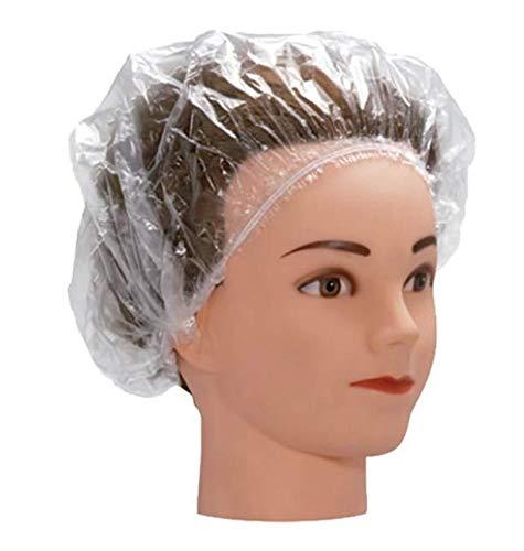 Touca Plástica Descartável Para Proteção do Cabelo 100 Uni