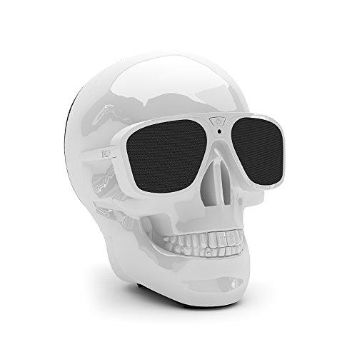 Jarre Technologies Aero Skull XS - Altavoz portátil Bluetooth, color blanco