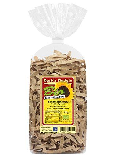 Burk's Bio Dinkel-Vollkorn Bandnudeln - 8 mm gewalzte Tagliatelle Pasta ohne Ei (500 g)