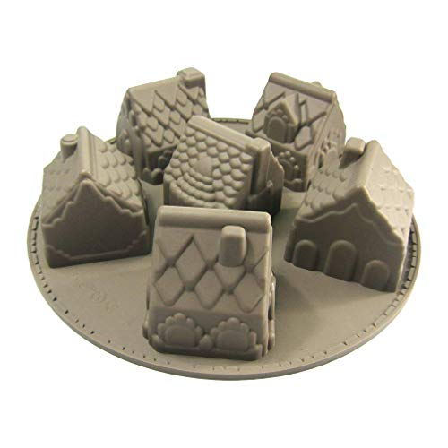 JasCherry Silikon Backform für Schokolade, Cupcakes, Kuchen, Muffinform für Muffins, Pudding, Eiswürfel und Gelee - Cartoon Haus