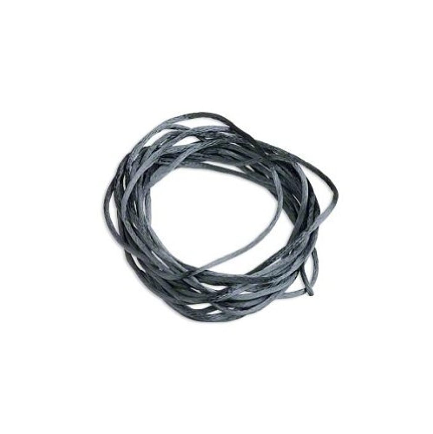 Satin Bugtail Cord Dark Grey 1mm. Section of 5 meters / 5.4 Yards.
