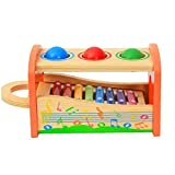 LAANCOO Mano de niños Que golpea el Piano bebé de Ocho Tonos de Piano golpea con mazos Juguete Colorido de la música