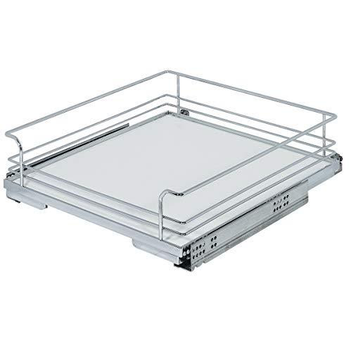 Gedotec Unterschrank-Innenauszug Schrankauszug mit Gitterkorb | Vollauszug mit Gitter-Auszugsboden | für Korpusbreite: 600 mm | Korbgröße: 545 x 500 x 127 mm | 1 Stück