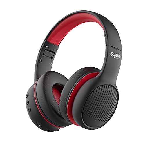 gorsun E66 Casque pour Enfants Bluetooth, Casque Audio Enfants Pliable Bluetooth sur l'oreille Volume limité Safe 85/94dB avec Micro, Casque pour Enfants pour l'école