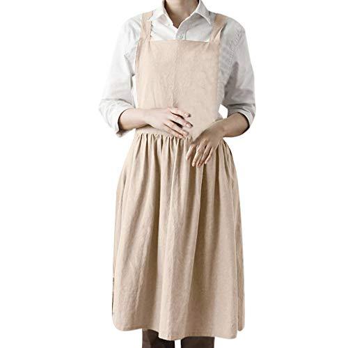 Vestidos Elegantes Mujer Señoras Color sólido imitación Lino Delantal Estudiante Joven niña Viento Casual Dress Playa Camiseta Tops Primavera Vestidos Fiesta Coctel Mujeres riou