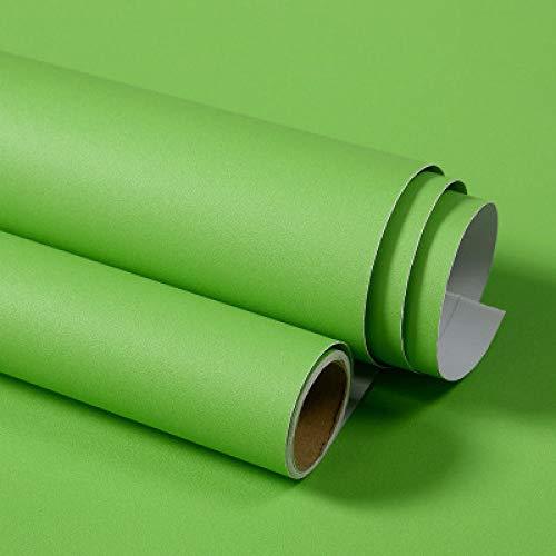 LZYMLG Einfarbig pvc wasserdicht selbstklebende tapete für wohnzimmer kinder schlafzimmer dekor vinyl kontaktpapier für küchenschrank Grün
