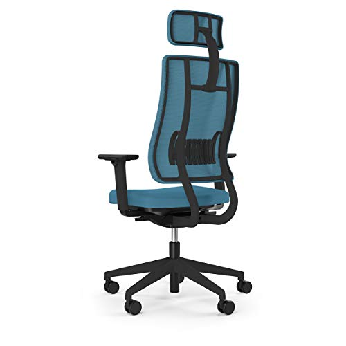 Viasit Newback Arbeitsplatzstuhl hellblau Gestell schwarz