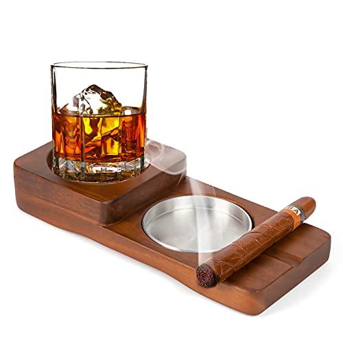 Cigar Ashtray Coaster/Whiskey Gl...