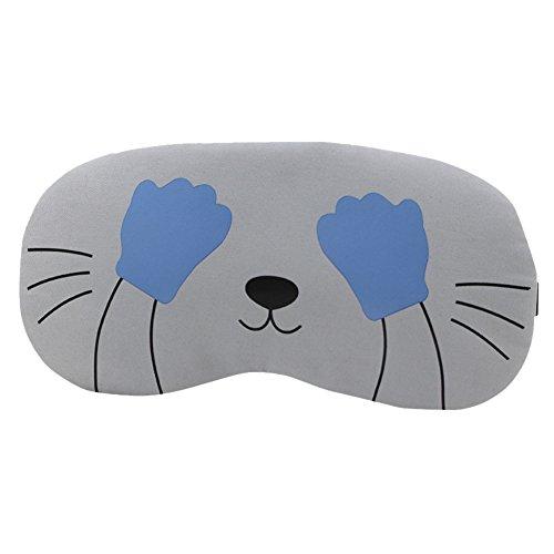 Preisvergleich Produktbild DAKERTA Schlafmaske Augenmaske Karikatur Schlafbrille Warmhaltepackung Schlafbrille Schlafen Maske,  ideal für Reisen Nickerchen Nacht Schlafen Maske (A)