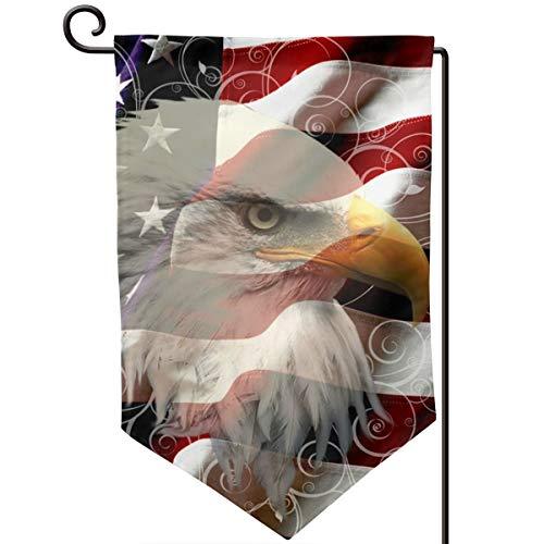 IDNUYIA Garden Flag Vertical, Seasonal Spring Holiday Outdoor Decoration 12.5 X 18 Inch American Eagle Flag