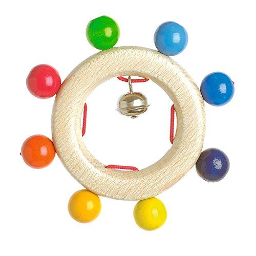 solini Le hochet Jeu de perles jouet à saisir, naturel/multicolore