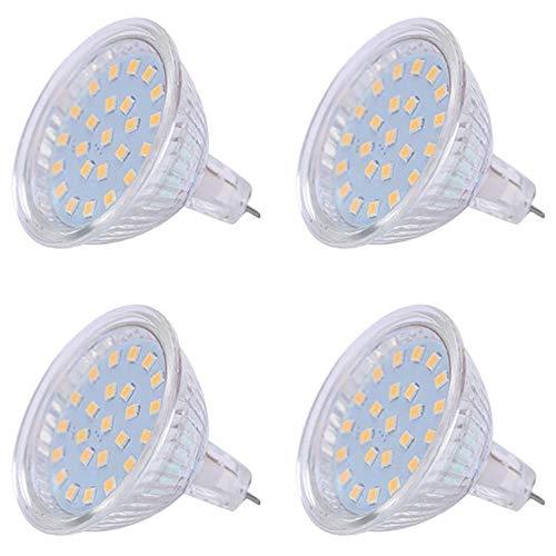 Bombilla LED MR11, 2 W, 12 V, GU4, 24 V, MR16, GU5.3, 5 W, bombilla LED para el hogar, 20 W, 50 W, equivale a halógeno, empotrable, iluminación de riel (blanco cálido, MR16)
