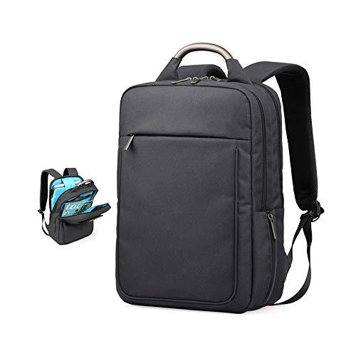 GWX Business-rugzak, laptop-rugzak, linnen, modieus, casual, lichte rugzak voor studenten, voor laptops tot 14 inch