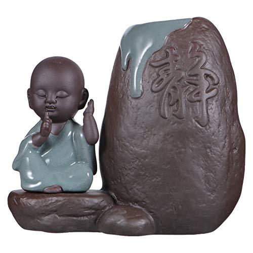 YARNOW Buddha Figurine Idroponica Fioriera di Ceramica Zen Monaco Succulente Pentola d'Epoca Piccolo Vaso di Fiori Catcus Container Holder Desktop Decor per Zen Decorazioni per La Casa