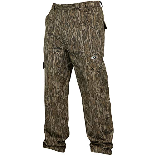 Mossy Oak Camo Lightweight Hunting Pants for Men Camouflage Clothing, Large, Bottomland