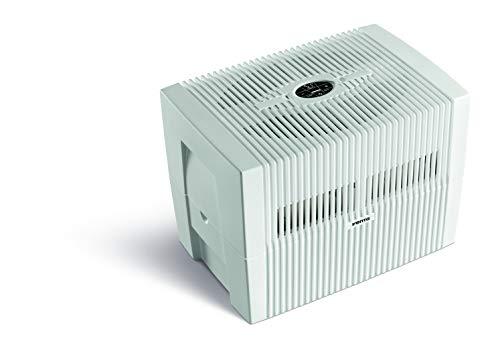 Venta Luftwäscher Comfort Plus LW45, Luftbefeuchtung und Luftreinigung (bis 10 µm Partikel) für Räume bis 60 qm, Brillantweiß, mit digitaler Steuerung