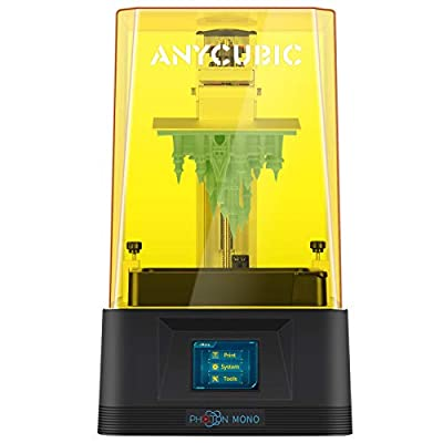 "ANYCUBIC Photon Mono 3D Printer, UV LCD Resin 3D Printer Fast Printing with 6.08'' 2K Monochrome LCD, Off-line Print 5.11""(L) x 3.14""(W) x 6.49""(H) Printing Size"
