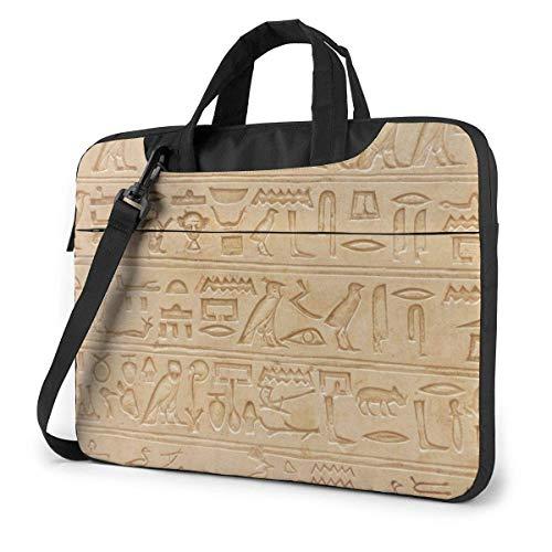 Ägyptisches Piktogramm Symbol Steinschnitzerei in Laptoptasche Notebook Computer Schutzhülle Anti-Kratzer Handtasche Umhängetasche