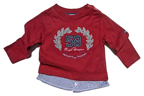 Gelati Kidswear - Jungen Langarmshirt ROYAL Champion in Bordeaux Größe 80 (8-12 Monate)