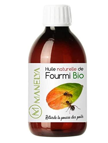 Huile de fourmi 250 ml - Manelya - Contre la pousse des poils, retardateur de repousse - Vegan - 100% Biologique et naturelle - Format économique