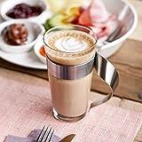 Villeroy & Boch - NewWave Latte Macchiato-Glas, 500 ml, 15 cm, trendiges Design, Kristallglas, Edelstahl, spülmaschinengeeignet - 3