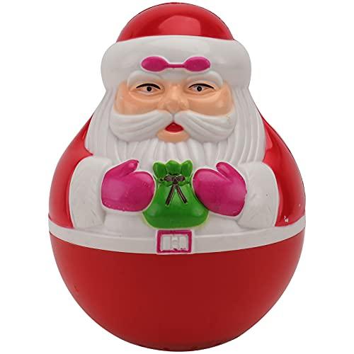 EXCEART Navidad Santa Claus Roly Poly Wobbly Toy Niño Juguete Musical Creativo Santa Claus Roly- Poly Juguete Muñeca con 20 Canciones de Navidad