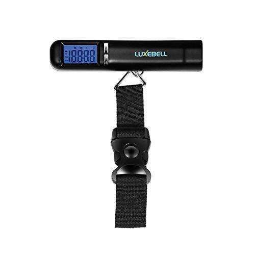 Luxebell® Bilancia Digitale Pesa Bagaglio,Bilancino Pesa Bagagli Valigie con Funzione Zero e Tare 50KG