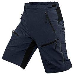 Ally MTB Hose Herren Radhose, Mountainbike Hose Fahrradhose Herren Kurz, Outdoor Sport Herren Radlerhose MTB Bike Shorts (Navyblau, 2XL/cm(Waist:94-99,Hip:105-110))