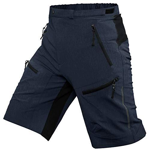 Ally MTB Hose Herren Radhose, Mountainbike Hose Fahrradhose Herren Kurz, Outdoor Sport Herren Radlerhose MTB Bike Shorts (Navyblau, XL/cm(Waist:89-94,Hip:100-105))